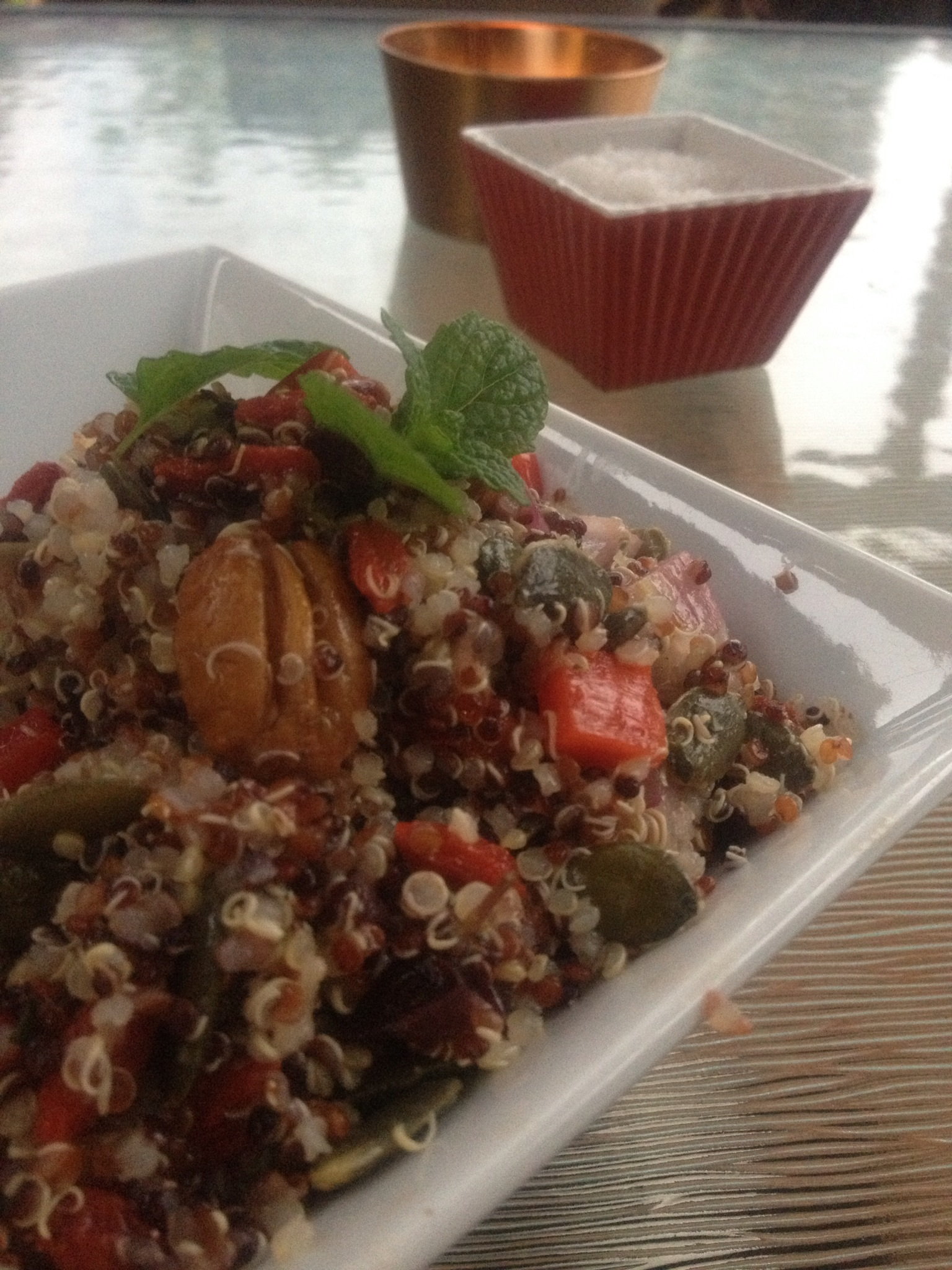 Tri-Colour Quinoa Salad with Pecan and Mint