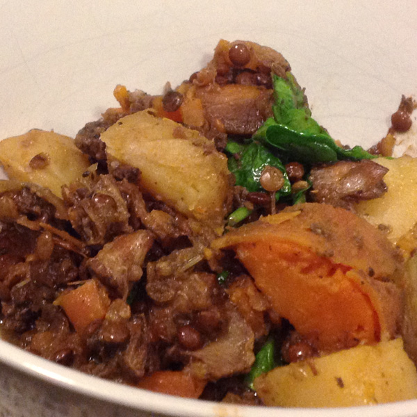 Lamb and Puy Lentil Casserole with Herbes de Provence