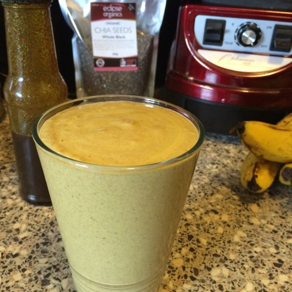 Protein Smoothie with Golden Milk Banana and Chia Seeds
